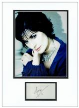 Enya Autograph Signed Display